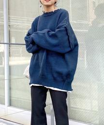 WHO'S WHO gallery(フーズフーギャラリー)のスーパービッグダメージマルチウェイニット/バックスリットデザイン(ニット/セーター)