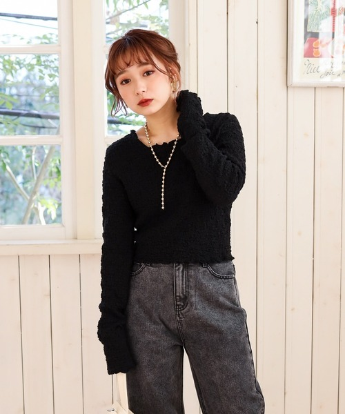 bubble cropped long T