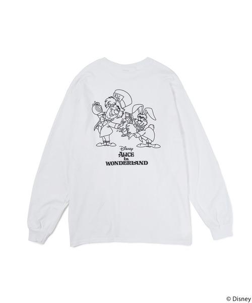 【Disney/ディズニー/ふしぎの国のアリス/マッドハッター/3月うさぎ】ロングTシャツ