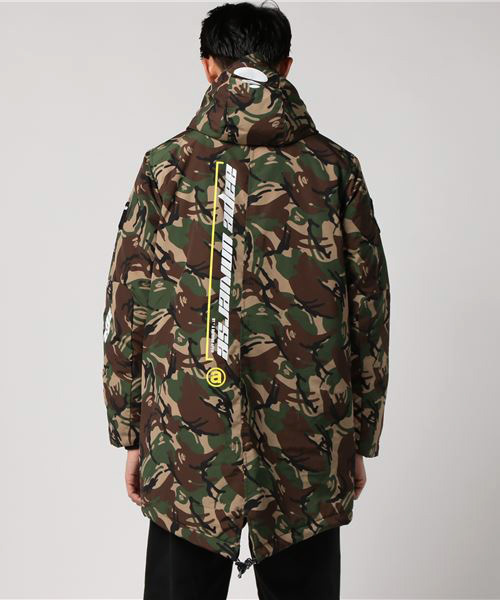 AAPE QUILTED JACKET WITH HOODIE