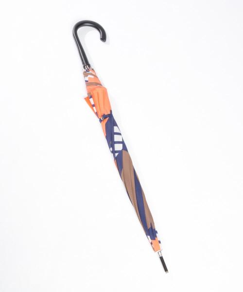 collex(コレックス)の「【KiU×collex 】晴雨兼用 UVカット率90%以上 ジャンプ長傘(長傘)」|オレンジ