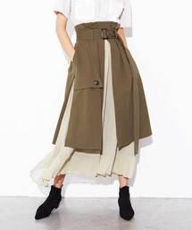 ECLIN(エクラン)のトレンチプリーツスカート(スカート)