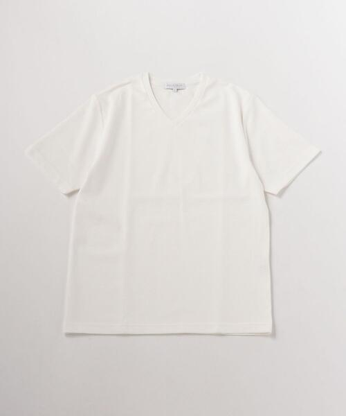 <A DAY IN THE LIFE>リップル ソリッド Vネック Tシャツ