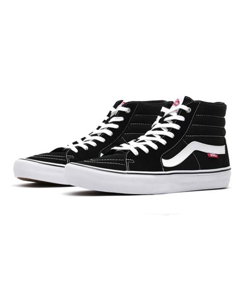 VANS(バンズ)の「VANS ヴァンズ SK8-HI PRO スケートハイ プロ VN000VHGY28 BLACK/WHITE(スニーカー)」|ブラック×ホワイト