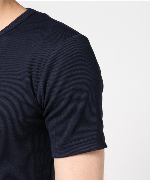 【OUTDOOR PRODUCTS】COOLPLUS リブVネックTシャツ