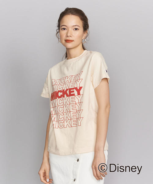 BY MICKY(ミッキー)プリントクルーネックTシャツ/Disney