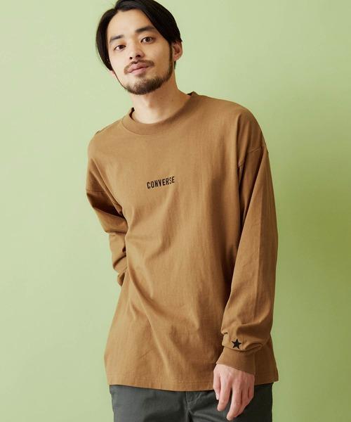 CONVERSE/コンバース 別注 ロゴ刺繍 長袖 ビッグシルエットカットソー