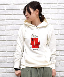 SNOOPY×OLD BETTY'S(スヌーピーカケルオールドベティーズ)のSNOOPY Embroidered Sweat Parka(HOUSE)/スヌーピー 刺繍 スウェット パーカー(パーカー)