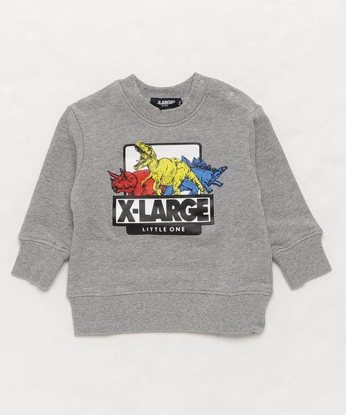 6ed050496d9a1 XLARGE KIDS(エクストララージキッズ)の「カラフル恐竜ロゴトレーナー(スウェット)
