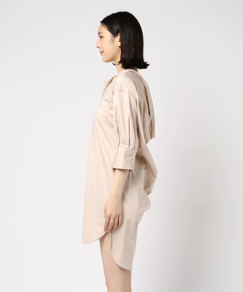 MIHARAYASUHIRO(ミハラヤスヒロ)の「【MIHARAYASUHIRO】BACK NECK SHIRT DRESS(シャツワンピース)」|詳細画像