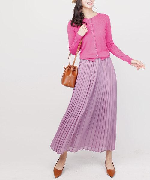 aimoha(アイモハ)の「ロングプリーツスカート(スカート)」|パープル