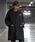 Danton(ダントン)の「DANTON(ダントン) ウールモッサ チェスターコート JD-8991 WOM(ステンカラーコート)」|チャコールグレー