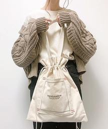 【インフルエンサー aiko×DEVICE コラボ】Rename 帆布 巾着トートバッグ /ハンドバッグ (ユニセックス) 《ZOZO限定》ナチュラル