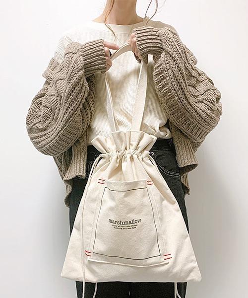 DEVICE(ディバイス)の「【インフルエンサー aiko×DEVICE コラボ】Rename 帆布 巾着トートバッグ /ハンドバッグ (ユニセックス)(トートバッグ)」|ナチュラル