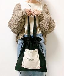 【インフルエンサー aiko×DEVICE コラボ】Rename 帆布 巾着トートバッグ /ハンドバッグ (ユニセックス) 《ZOZO限定》ブラック