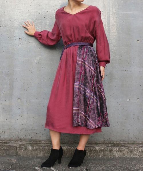 ペイズリーラップドレス