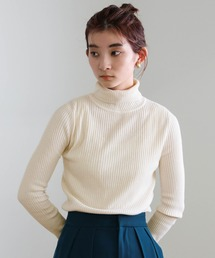 select MOCA(セレクトモカ)のカラバリ豊富♪着痩せシンプルリブタートルネックニット(ニット/セーター)