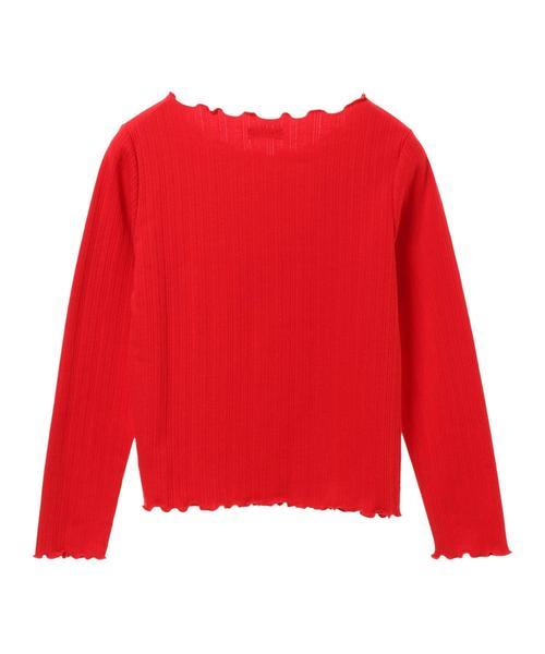 ・透かし編み風メロウニットプルオーバー