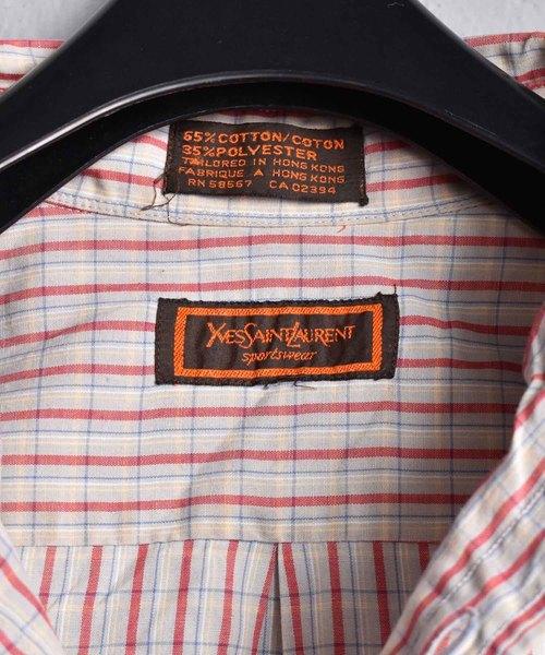 【ヴィンテージ古着】YVES SAINT LAURENT/イヴ・サンローラン ボタンダウンシャツ