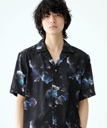 STUDIOUS(ステュディオス)の【STUDIOUS】オープンカラーダークフラワーアロハシャツ 開襟シャツ(シャツ/ブラウス)