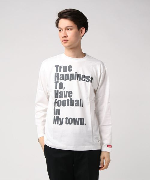 GRANDE.F.P.メッセージプリント長袖Tシャツ
