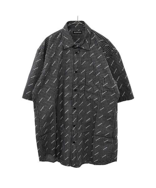 wholesale dealer b7d8f 75ce7 ロゴチェックビッグ半袖シャツ