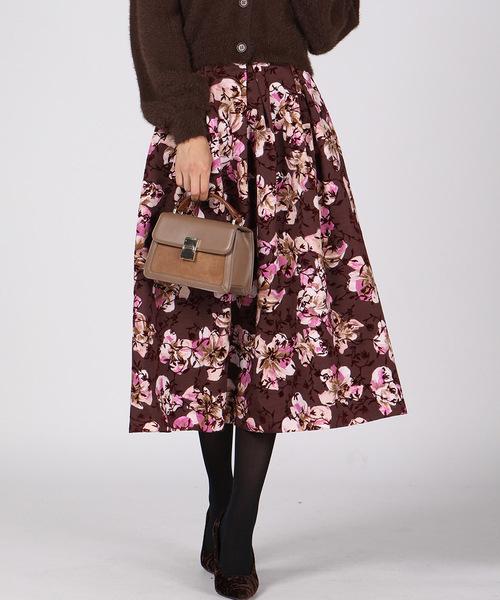 【激安大特価!】  【セール】【WEB別注】フラワーフロッキータックフレアミモレスカート(スカート) QUEENS COURT(クイーンズコート)のファッション通販, 笑印堂:95c217d7 --- innorec.de