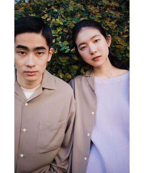 【 WEB限定 】[ GLR/ -or ] オープンカラー シャツ 男女兼用 ユニセックス