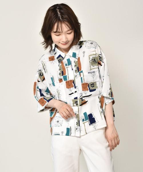 ペイント柄半袖シャツ