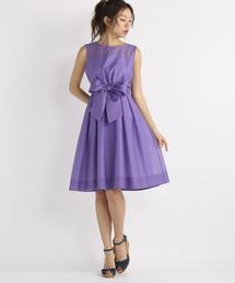 96ea859a94341 STRAWBERRY-FIELDS(ストロベリーフィールズ)の「シアーシャンタン ドレスワンピース(ドレス)