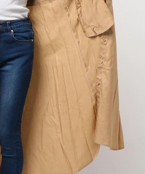 テンセルツイルシャツコート