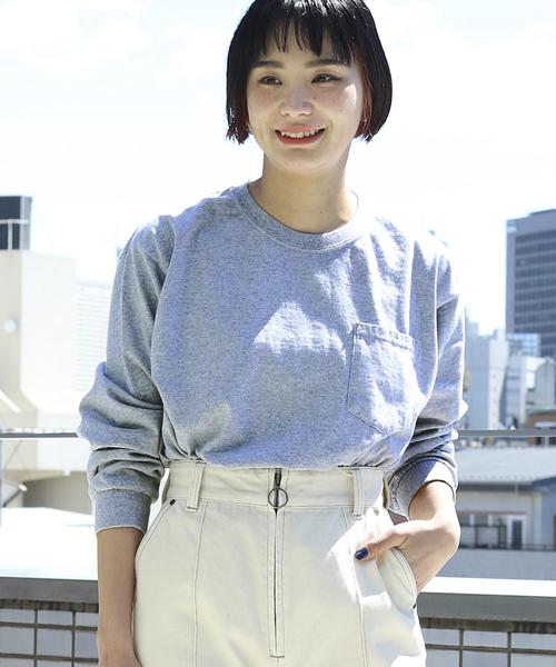 【WEB限定】GILDAN/ギルダン カスタムフィット ビッグシルエット ポケット長袖Tシャツ