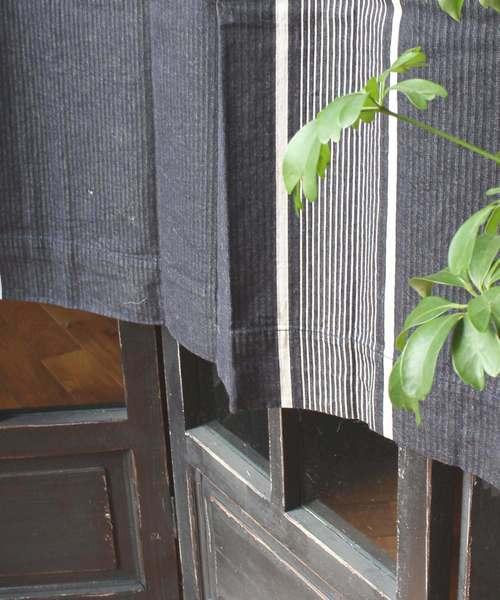 THESTRIPECurtain135BK / ストライプカーテン