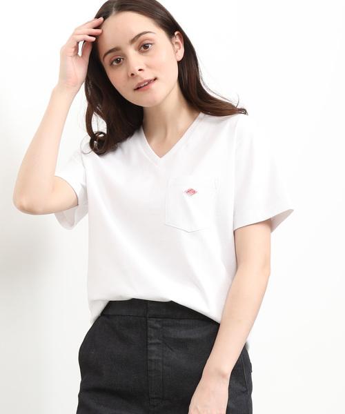 【DANTON】VネックTシャツ