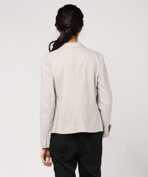 【速乾】クールマックス(R)コードレーン テーラードジャケット