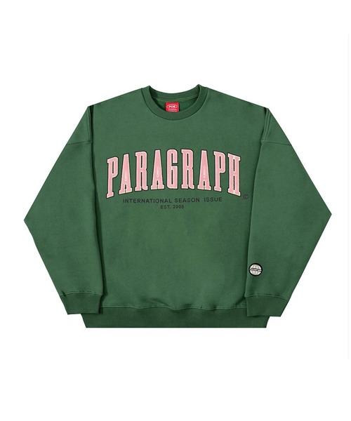 『paragraph/パラグラフ』ベルベット刺繍 ロングスリーブ スウェットシャツ トレーナー MTM