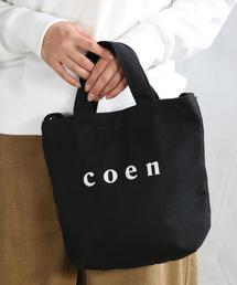 【Sサイズ】coen2WAYロゴトートバッグ