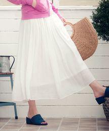 KOBE LETTUCE(コウベレタス)のリネン風スラブ素材マキシスカート(スカート)