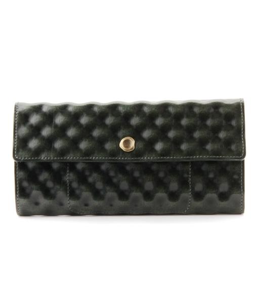 HIROKO HAYASHI(ヒロコハヤシ)の「VINO(ヴィーノ)長財布(財布)」|グリーン