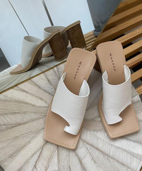 【chuclla】Triangle-heel thongs sandal sb-6 chs70