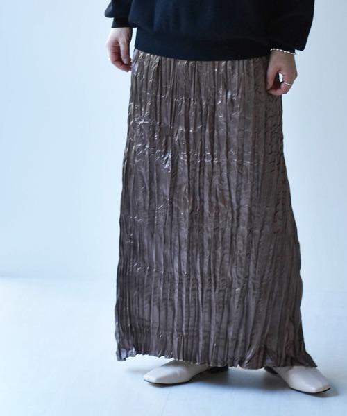 クリンクルナロースカート