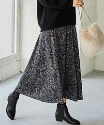 NFC ペイズリーマキシフレアスカート