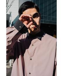 【 WEB限定 】[ GLR/ -or ] オーバーサイズ クレリック シャツ 男女兼用 ユニセックス