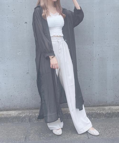 【Crea titty&Co.PETIT】シアーロングシャツ