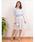 Dear Princess(ディアプリンセス)の「花柄モチーフチェックジャガード コルセット風スカート(スカート)」|ブルー