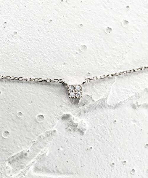 mint jam(ミントジャム)の「K10 ホワイトゴールド ダイヤモンド ネックレス(ネックレス)」|その他1