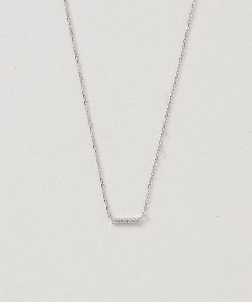 mint jam(ミントジャム)の「K10 ホワイトゴールド ダイヤモンド ネックレス(ネックレス)」|詳細画像