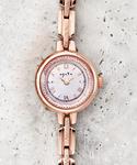 ラウンドフェイスソーラーウォッチ 【AGETE36PG時計】(腕時計)