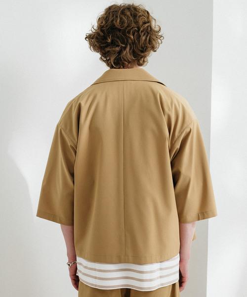 【先行販売】ハーフスリーブオープンカラーコーチシャツジャケット