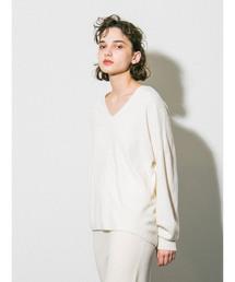 emmi(エミ)の【emmi atelier】タスマニアウールVネックニット(ニット/セーター)